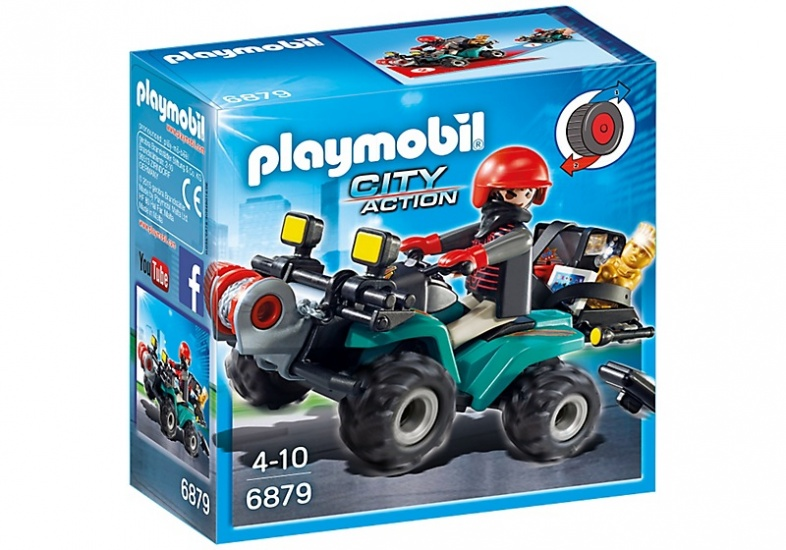 PLAYMOBIL City Action: Bandiet en quad met lier (6879)