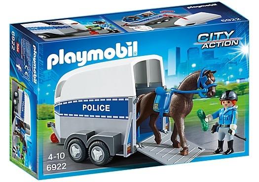 Bereden politie met trailer Playmobil (6922)