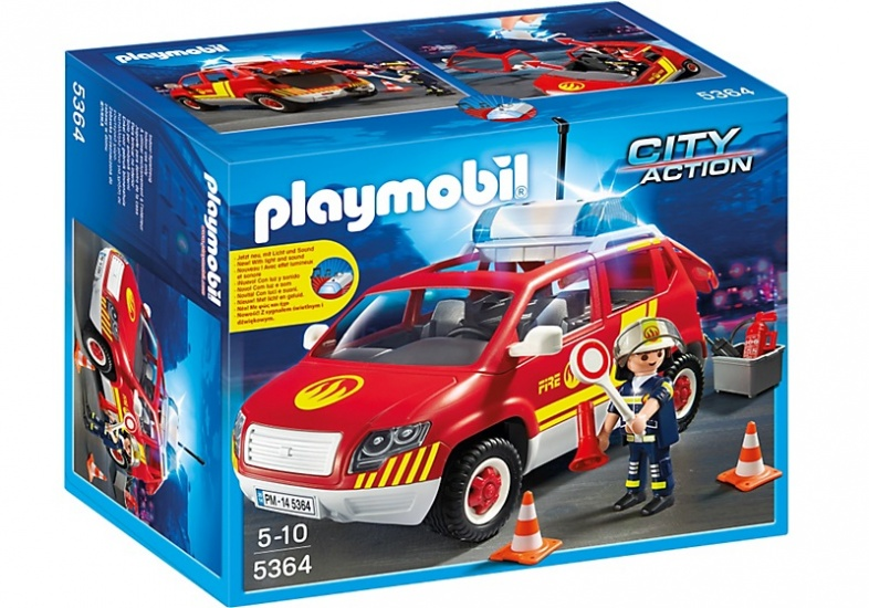 PLAYMOBIL City Action: Brandweercommandant dienstwagen (5364)