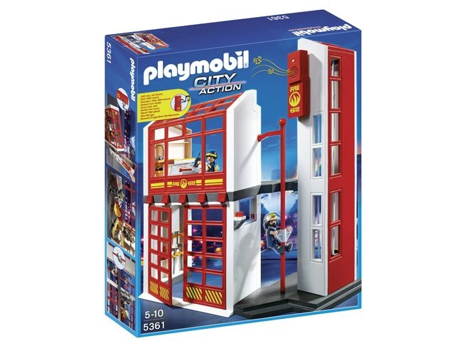 Playmobil City Action Brandweerkazerne met Sirene 5361