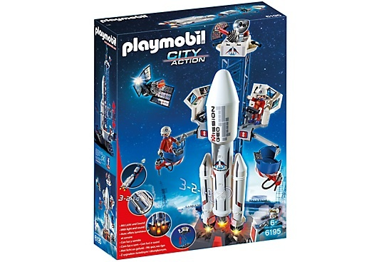 PLAYMOBIL City Action: Lanceerbasis met raket (6195)