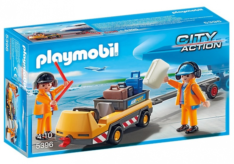 Playmobil City Action Luchtverkeersleiders met bagagetransport