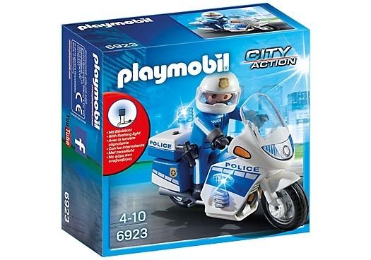 Politiemotor met LED-licht Playmobil (6923)