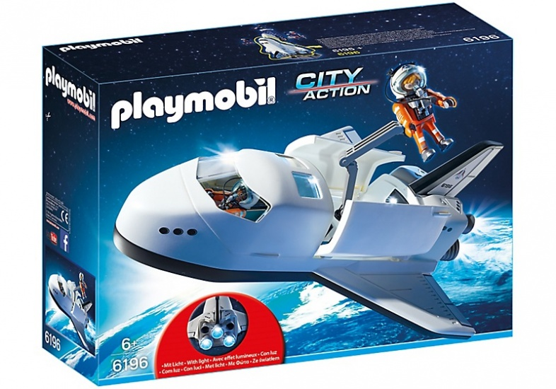 PLAYMOBIL City Action: Space Shuttle met bemanning (6196)