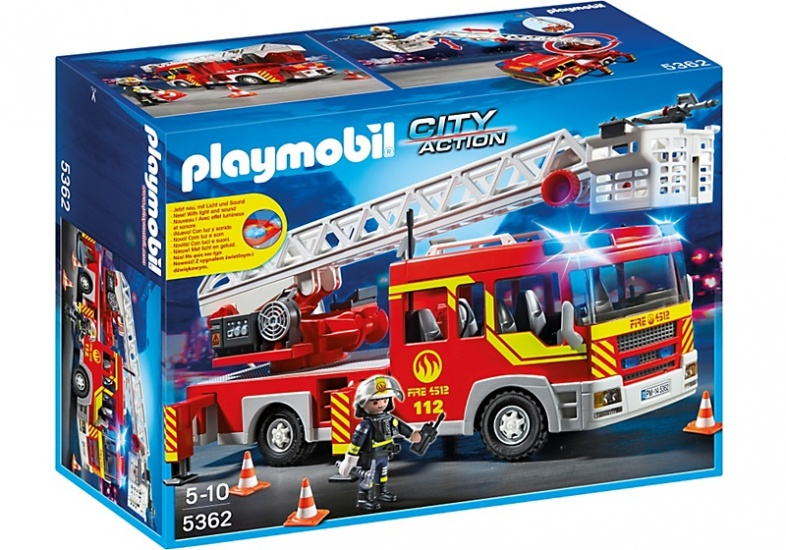 PLAYMOBIL City Action: Brandweer ladderwagen (5362)