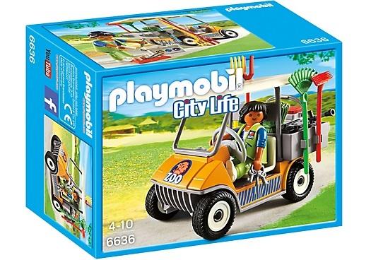 PLAYMOBIL City Life: Dierenverzorger met materiaal (6636)