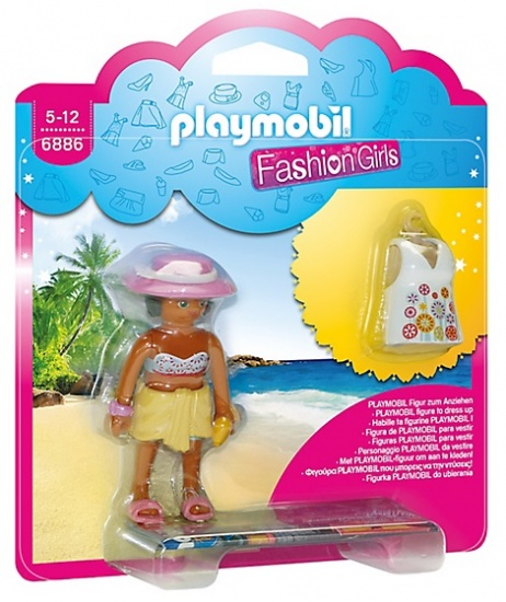 PLAYMOBIL City Life: Fashion Girl Strand (6886)