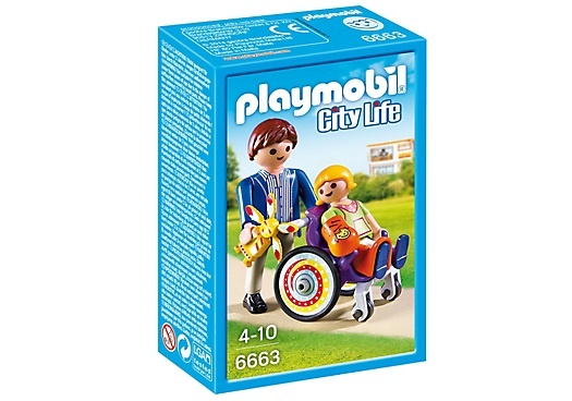 PLAYMOBIL City Life: Kind in rolstoel (6663)