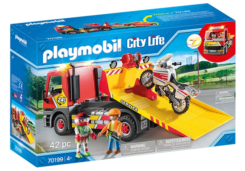 Playmobil City Life Tow Truck With Motor 70199 Internet Toys