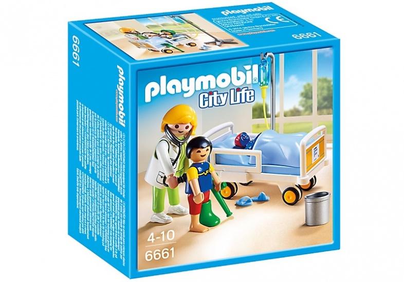PLAYMOBIL City Life: Ziekenhuiskamer met arts (6661)