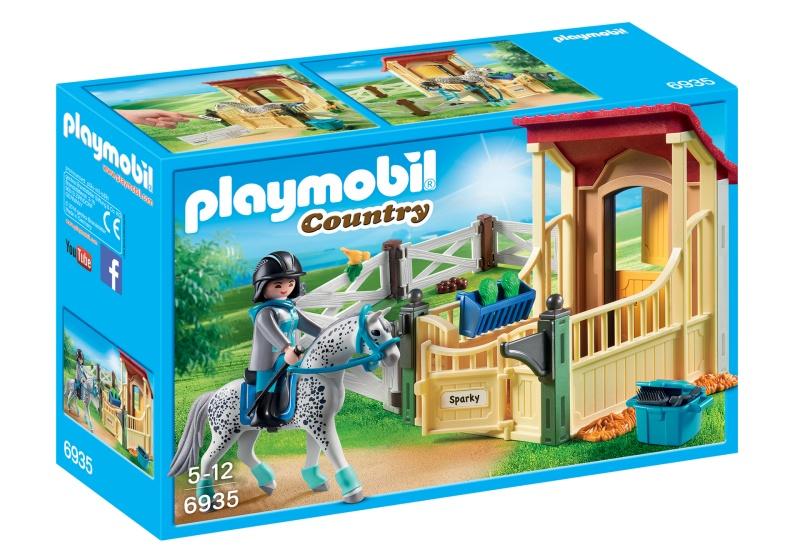 PLAYMOBIL Country Appaloosa met paardenbox (6935)