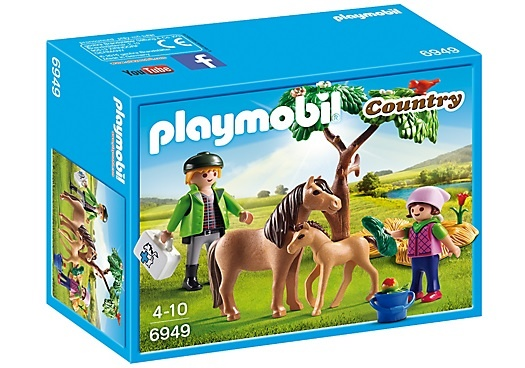 PLAYMOBIL Country: Dierenarts met pony's (6949)