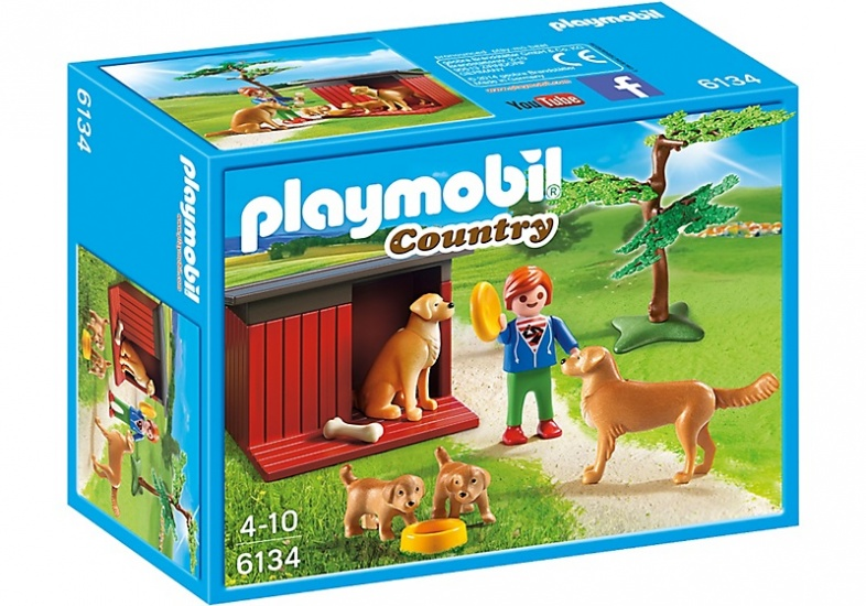 Playmobil Country Golden Retriever met pup 6134