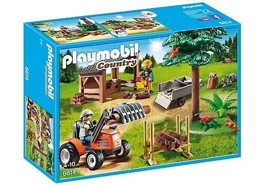 PLAYMOBIL Country: Houthakker met tractor (6814)