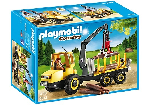 PLAYMOBIL Country: Houttransport met kraan (6813)