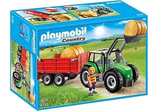 PLAYMOBIL 6130 TRACTOR + WAGEN