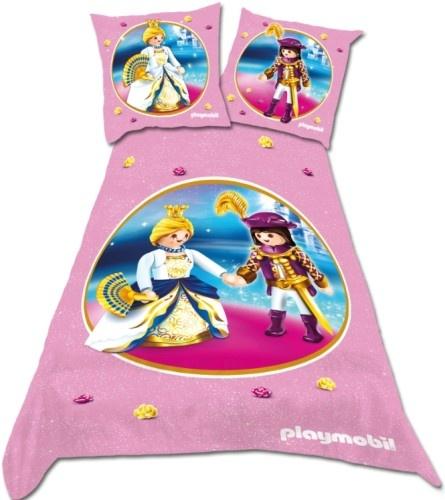 PLAYMOBIL prinsessen: dekbedovertrek 140 x 200 cm