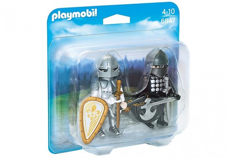PLAYMOBIL Duopack: Zwarte en zilveren ridder (6847)