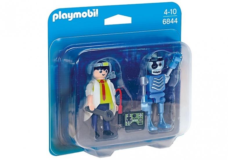 PLAYMOBIL Duopack: Uitvinder en robot (6844)