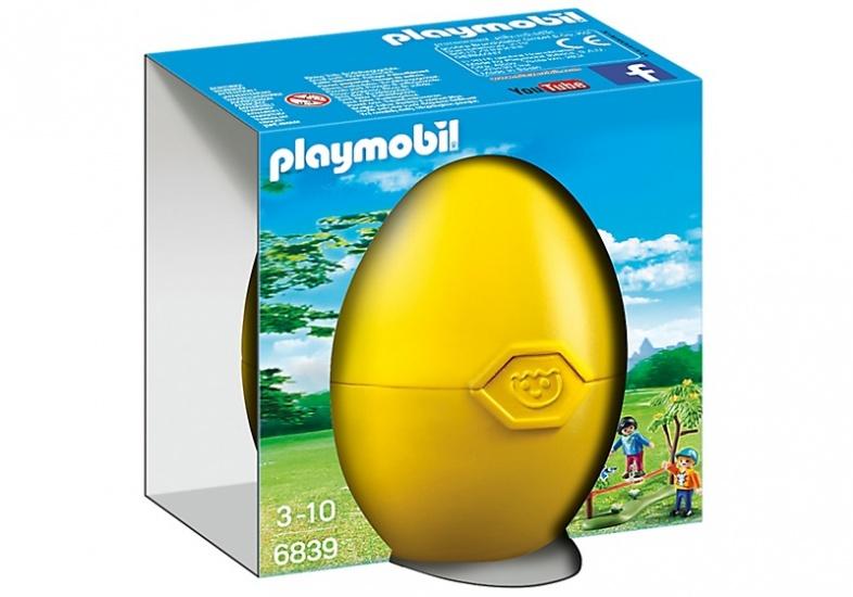 PLAYMOBIL Easter Eggs: Kinderen met slackline (6839)