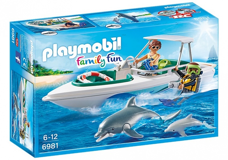 PLAYMOBIL Family Fun: Duiktrip met plezierboot (6981)