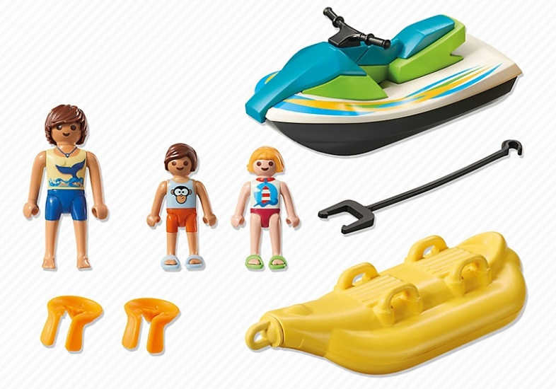 playmobil family fun jet ski with banana boat 6980 - Playmobil Ski