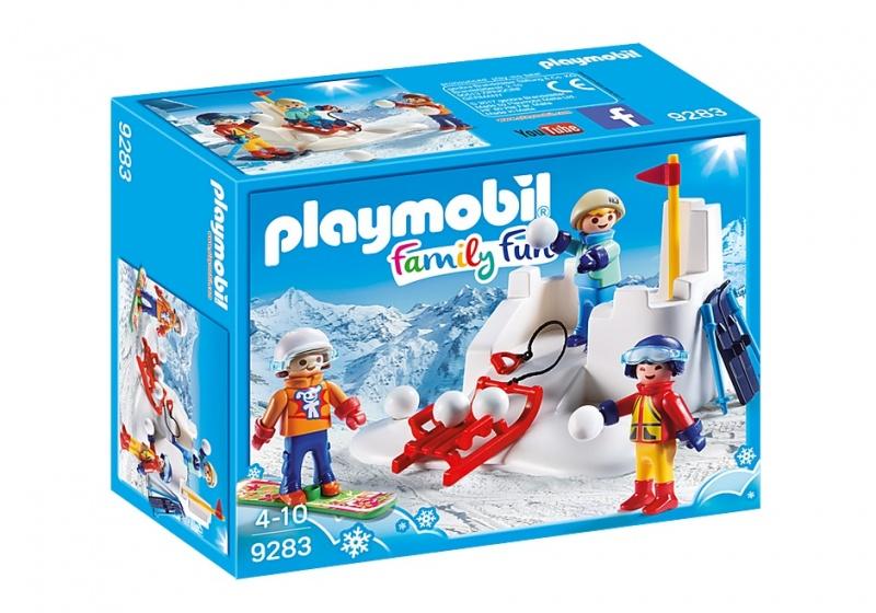 Playmobil FamilyFun 9283 Jongen-meisje Blauw, Oranje, Rood, Wit, Geel set speelgoedfiguren kinderen