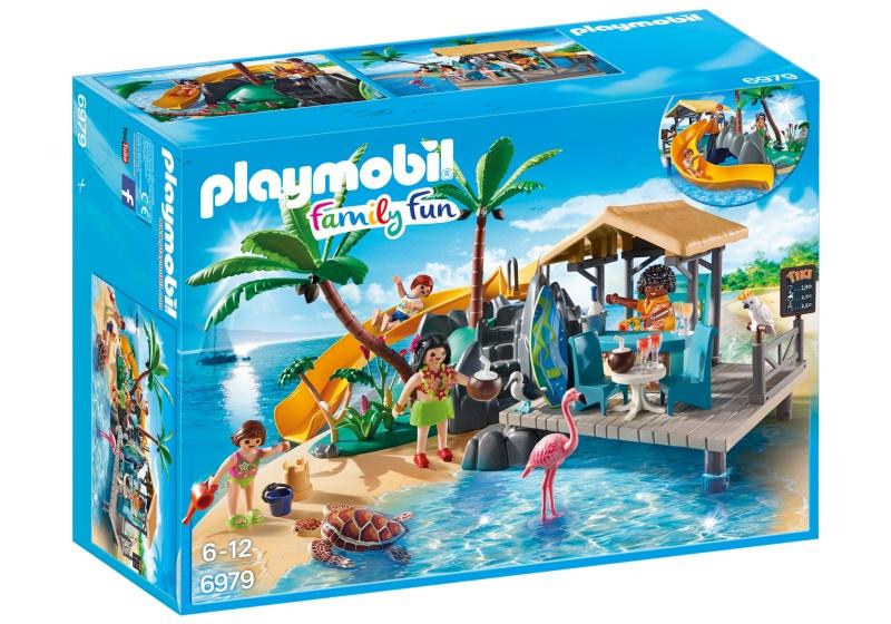 PLAYMOBIL Family Fun: Vakantie eiland met strandbar (6979)