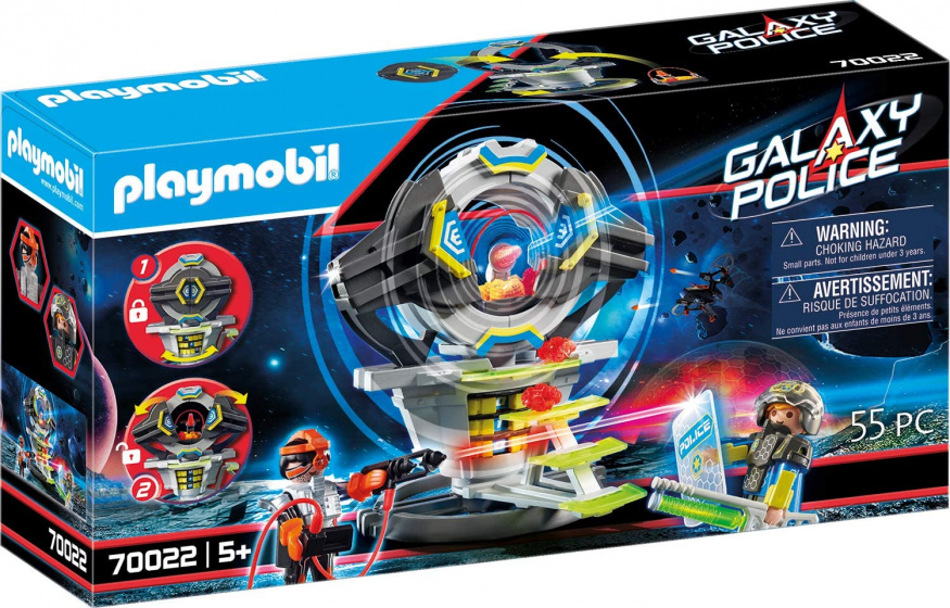 PLAYMOBIL Galaxy Police kluis met geheime code jongens 55 delig