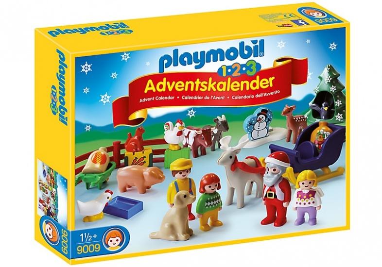 PLAYMOBIL 1, 2, 3: Adventskalender Kerst op de boerderij (9009)