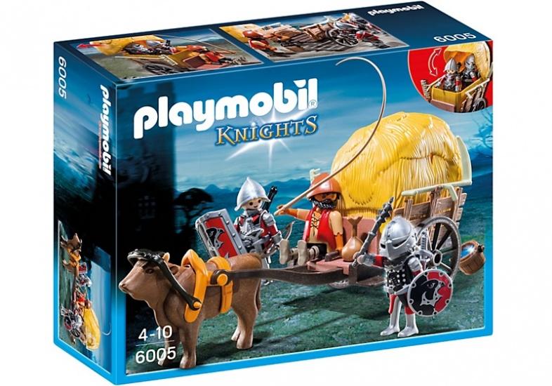 PLAYMOBIL Knights: Camouflage hooiwagen Valkenri (6005)