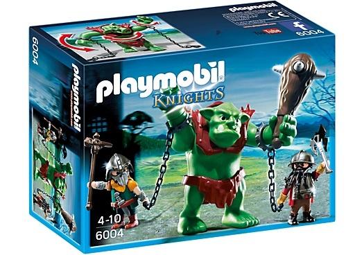PLAYMOBIL Knights: Reuzentrol met dwergsoldaten (6004)