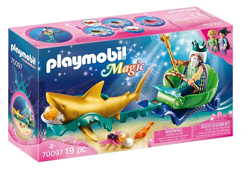 Playmobil 70097 Magic Zeemeermin Koning in Koets