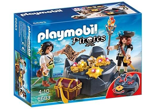 PLAYMOBIL Pirates: Koninklijke schatkist met piraat (6683)