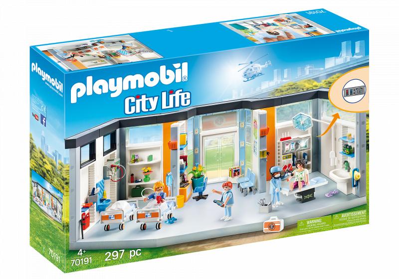 PLAYMOBIL PLAYMOBIL City Life Ingerichte Ziekenhuisvleugel (70191)