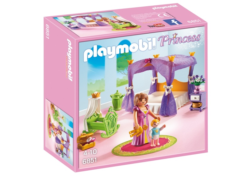 Playmobil Princess Royal Bedroom Four Poster Bed 6851 Internet Toys