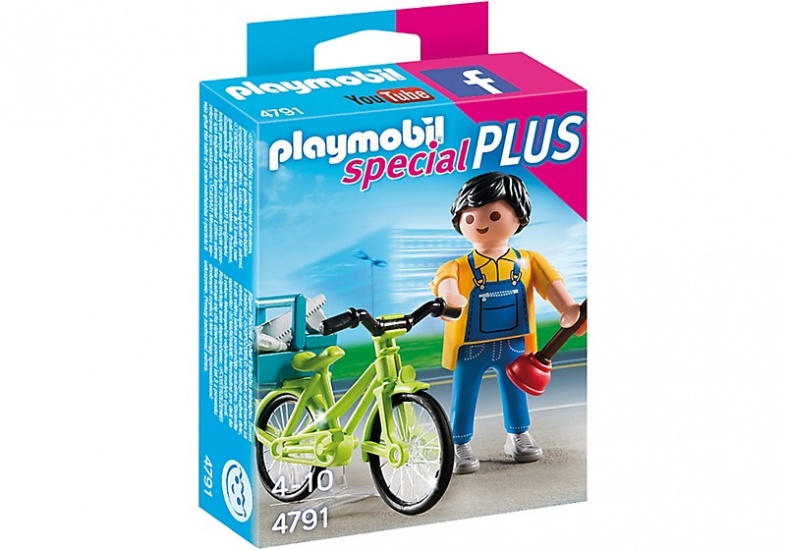 PLAYMOBIL Special Plus: Klusjesman met fiets (4791)