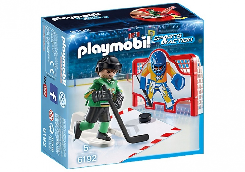 PLAYMOBIL Sport & Action: IJshockey doelschieten (6192)