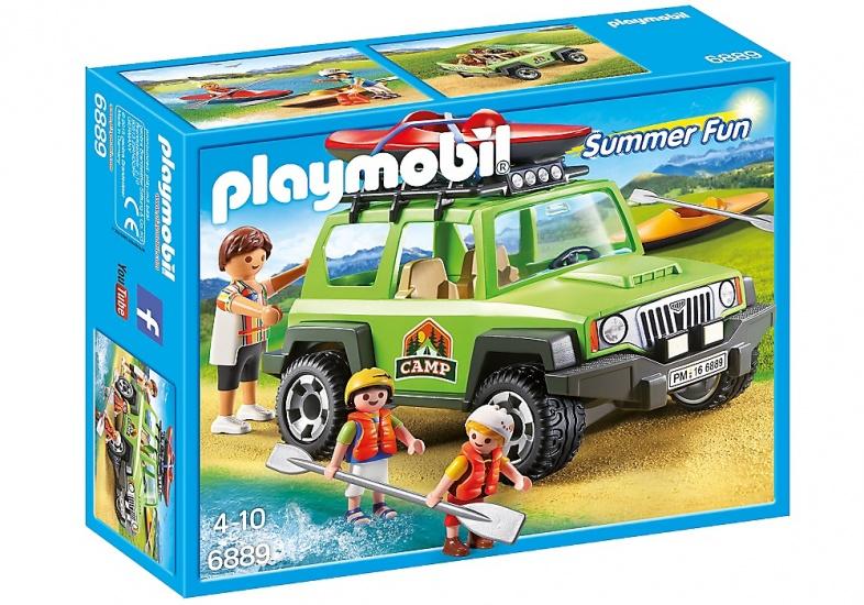 PLAYMOBIL Summer Fun: Familieterreinwagen met kajaks (6889)