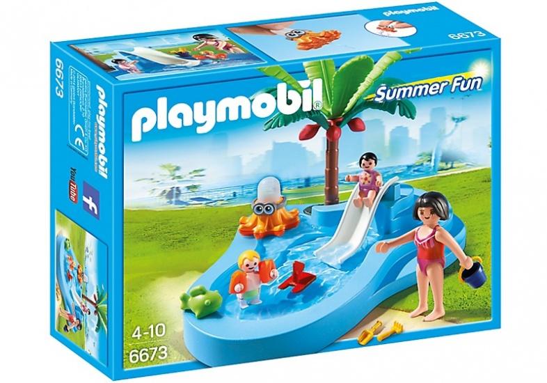PLAYMOBIL Summer Fun: Kinderbad met glijbaan (6673)