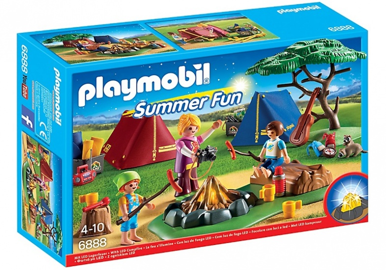 PLAYMOBIL Summer Fun: Tentenkamp met kampvuur (6888)