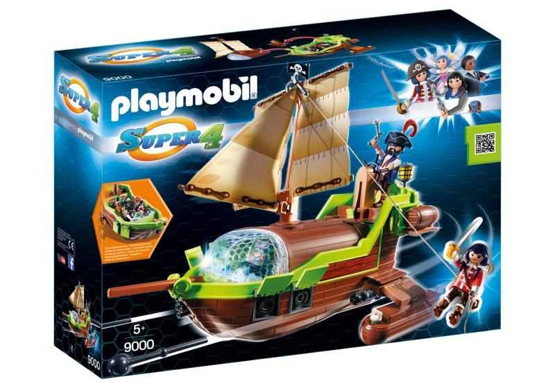 PLAYMOBIL Super 4: Galjoen Kameleon met Ruby (9000)