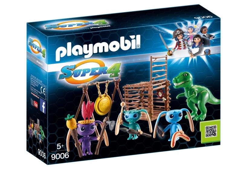 PLAYMOBIL Super 4: Alien krijgers met T Rex (9006)