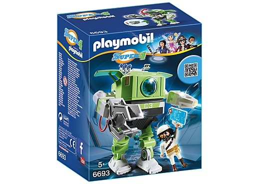 PLAYMOBIL Super 4: Cleano Robot (6693)