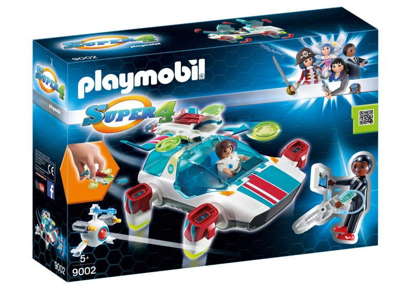 PLAYMOBIL Super 4: FulguriX met Gene (9002)
