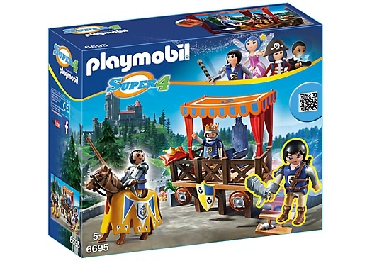 PLAYMOBIL Super 4: Koningstribune met Alex (6695)