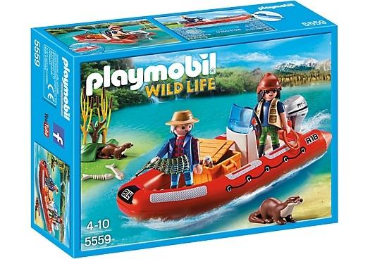 PLAYMOBIL Wild Life: Rubberboot met stropers (5559)