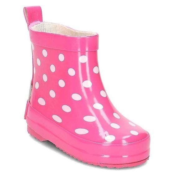 Playshoes korte regenlaarzen gestipt roze maat 20