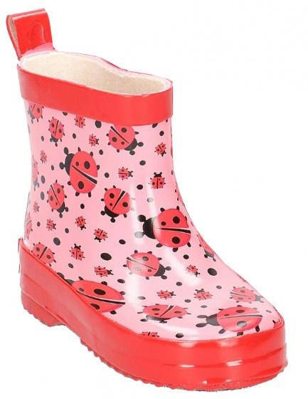 Playshoes korte regenlaarzen lieveheersbeestjes roze maat 18