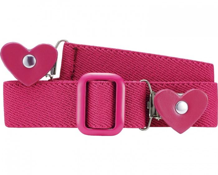 Playshoes riem elastisch met hartjesclip roze junior maat 1